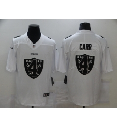 Nike Las Vegas Raiders 4 Derek Carr White Shadow Logo Limited Jersey