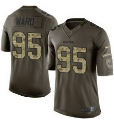 Nike Raiders #95 Jihad Ward Green Mens Stitched NFL Limited Salute to Service Jersey