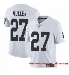 Raiders 27 Trayvon Mullen White Men Stitched Football Vapor Untouchable Limited Jersey