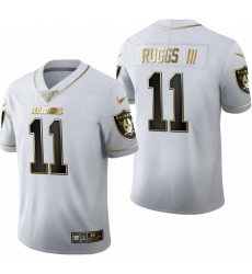 Raiders Henry Ruggs III White 2020 NFL Draft Golden Edition Jersey