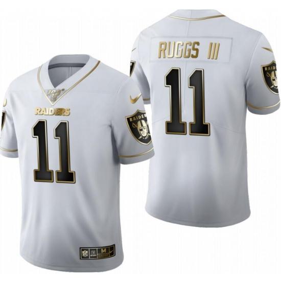 Raiders Henry Ruggs III White 2020 NFL Draft Golden Edition Jersey