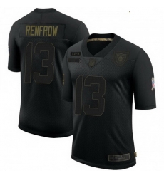 Youth Las Vegas Raiders 13 Hunter Renfrow 2020 Black Salute To Service Limited Jersey