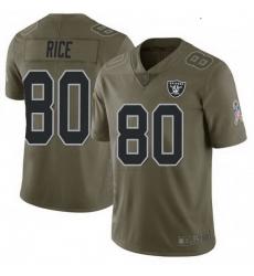 Youth Las Vegas Raiders 80 Jerry Rice 2017 Salute To Service Jersey