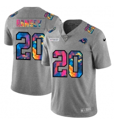 Los Angeles Rams 20 Jalen Los Angeles Ramsey Men Nike Multi Color 2020 NFL Crucial Catch NFL Jersey Greyheather
