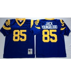 Men Los Angeles Rams 85 Jack Youngblood Blue M&N Throwback Jersey