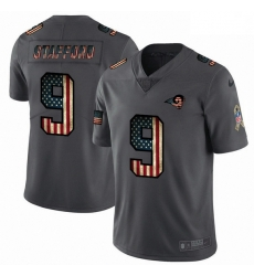 Men Los Angeles Rams 9 Matthew Stafford Nike 2018 Salute to Service Retro USA Flag Limited NFL Jersey