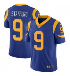 Men Los Angeles Rams 9 Matthew Stafford Royal Blue Alternate Men Stitched NFL Vapor Untouchable Limited Jersey