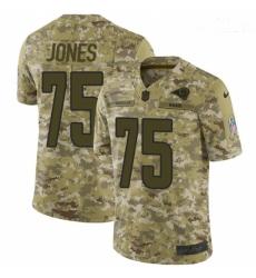 Men Nike Los Angeles Rams #75 Deacon Jones Limited Camo 2018 Salute to Service NFL Jersey