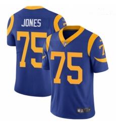 Men Nike Los Angeles Rams #75 Deacon Jones Royal Blue Alternate Vapor Untouchable Limited Player NFL Jersey