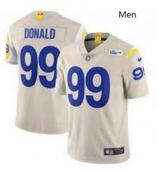 Men Nike Los Angeles Rams  Aaron Donald Bone 2020 New Vapor Untouchable Limited Jersey