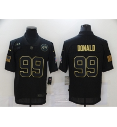 Nike Los Angeles Rams 99 Aaron Donald Black 2020 Salute To Service Limited Jersey