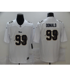 Nike Los Angeles Rams 99 Aaron Donald White Shadow Logo Limited Jersey