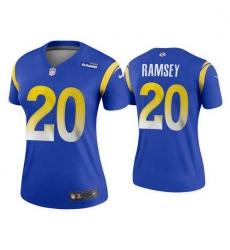 Women Los Angeles Rams Jalen Ramsey 2020 Vapor Limited Jersey Blue