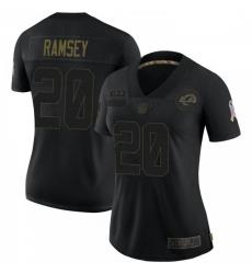 Women Los Angeles Rams Jalen Ramsey Jalen ey 2020 Salute To Service Jersey Black Limited