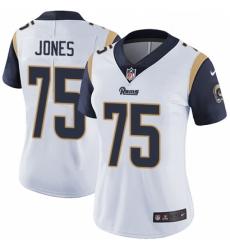 Women Nike Los Angeles Rams #75 Deacon Jones Elite White NFL Jersey