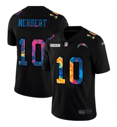 Los Angeles Chargers 10 Justin Herbert Men Nike Multi Color Black 2020 NFL Crucial Catch Vapor Untouchable Limited Jersey