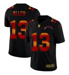 Los Angeles Chargers 13 Keenan Allen Men Black Nike Red Orange Stripe Vapor Limited NFL Jersey