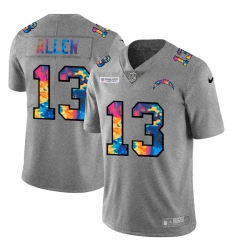 Los Angeles Chargers 13 Keenan Allen Men Nike Multi Color 2020 NFL Crucial Catch NFL Jersey Greyheather