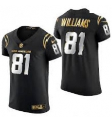 Men Los Angeles Chargers 81 Mike Williams 2020 Black Gold Limited Jersey