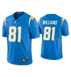 Men's Los Angeles Chargers #81 Mike Williams 2020 Light Blue Vapor Untouchable Limited Stitched Jersey