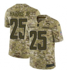 Nike Chargers 25 Chris Harris Jr Camo Men Stitched NFL Limited 2018 Salute To Service Jersey