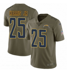Nike Chargers 25 Chris Harris Jr Olive Men Stitched NFL Limited 2017 Salute To Service Jersey