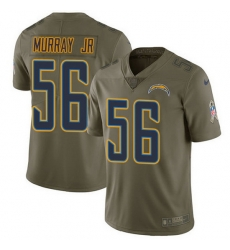 Nike Chargers 56 Kenneth Murray Jr Olive Men Stitched NFL Limited 2017 Salute To Service Jersey