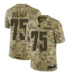 Nike Chargers 75 Bryan Bulaga Camo Men Stitched NFL Limited 2018 Salute To Service Jersey