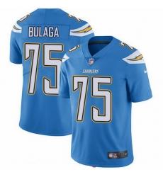 Nike Chargers 75 Bryan Bulaga Electric Blue Alternate Men Stitched NFL Vapor Untouchable Limited Jersey