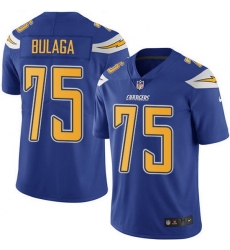 Nike Chargers 75 Bryan Bulaga Electric Blue Men Stitched NFL Limited Rush Jersey
