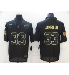 Nike Los Angeles Chargers 33 Derwin James Black 2020 Salute To Service Limited Jersey