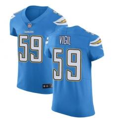 Nike Los Angeles Chargers 59 Nick Vigil Electric Blue Alternate Men Stitched NFL New Elite Jersey