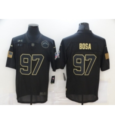 Nike Los Angeles Chargers 97 Joey Bosa Black 2020 Salute To Service Limited Jersey