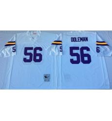 Men Minnesota Vikings 56 Chris Doleman White M&N Throwback Jersey