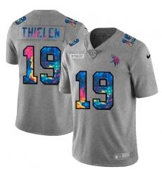 Minnesota Vikings 19 Adam Thielen Men Nike Multi Color 2020 NFL Crucial Catch NFL Jersey Greyheather