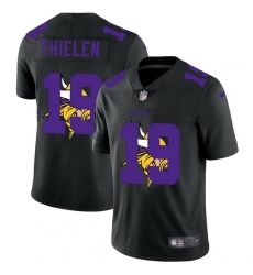 Minnesota Vikings 19 Adam Thielen Men Nike Team Logo Dual Overlap Limited NFL Jersey Black