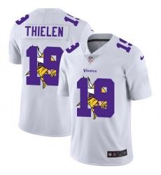 Minnesota Vikings 19 Adam Thielen White Men Nike Team Logo Dual Overlap Limited NFL Jersey