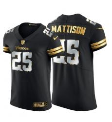 Minnesota Vikings 25 Alexander Mattison Men Nike Black Edition Vapor Untouchable Elite NFL Jersey
