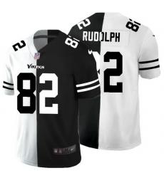 Minnesota Vikings 82 Kyle Rudolph Men Black V White Peace Split Nike Vapor Untouchable Limited NFL Jersey