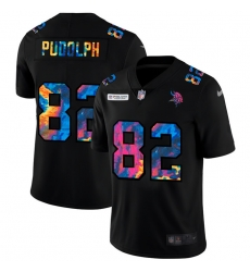 Minnesota Vikings 82 Kyle Rudolph Men Nike Multi Color Black 2020 NFL Crucial Catch Vapor Untouchable Limited Jersey