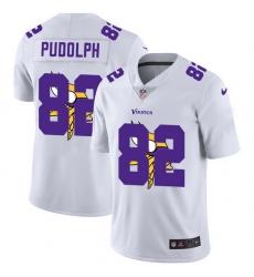 Minnesota Vikings 82 Kyle Rudolph White Men Nike Team Logo Dual Overlap Limited NFL Jersey