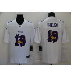 Nike Minnesota Vikings 19 Adam Thielen White Shadow Logo Limited Jersey