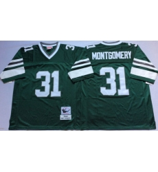 Men Philadelphia Eagles 31 Wilbert Montgomery Green M&N Throwback Jersey