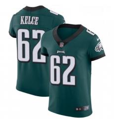 Mens Nike Philadelphia Eagles 62 Jason Kelce Midnight Green Team Color Vapor Untouchable Elite Player NFL Jersey
