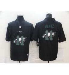 Nike Philadelphia Eagles 11 Carson Wentz Black Shadow Logo Limited Jersey