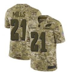 Nike Philadelphia Eagles 21 Jalen Mills Camo Men Stitched NFL Limited 2018 Salute To Service Jersey