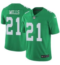 Nike Philadelphia Eagles 21 Jalen Mills Green Men Stitched NFL Limited Rush Jersey