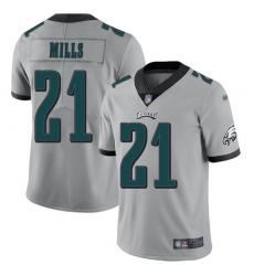 Nike Philadelphia Eagles 21 Jalen Mills Silver Men Stitched NFL Limited Inverted Legend Jersey
