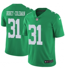 Nike Philadelphia Eagles 31 Nickell Robey Coleman Green Men Stitched NFL Limited Rush Jersey