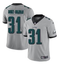 Nike Philadelphia Eagles 31 Nickell Robey Coleman Silver Men Stitched NFL Limited Inverted Legend Jersey